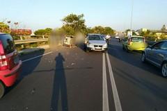 Bari, scontro tra tre auto, traffico in tilt