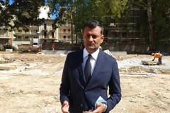 Antonio Decaro al via dei lavori per il parco dell'ex Gasometro