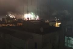 I fuochi d'artificio a Bari la notte di Natale