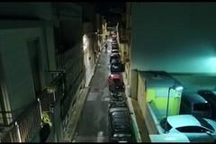 Carbonara, i droni riprendono la nuova illuminazione in 75 strade del quartiere