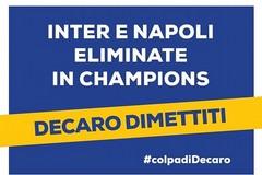 Inter e Napoli fuori dalla Champions, Decaro ironizza: «Anche questa è colpa mia»