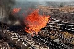Noicattaro, incendio nelle campagne: fiamme domate dai Vigili del fuoco