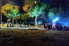 Incendio in via Caldarola, a fuoco delle sterpaglie