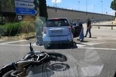 Scontro auto-moto sulla tangenziale di Bari, traffico rallentato verso sud