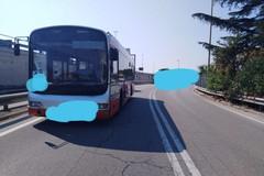 Scontro fra bus e auto a Palese, un ferito trasportato in ospedale