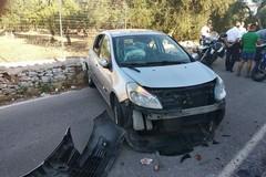 Bari, incidente a Catino. Traffico bloccato in strada Caladoria