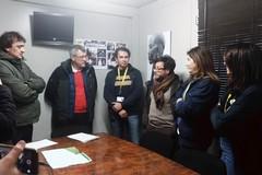 Il segretario Cgil Landini in visita al Cara di Bari-Palese: «Decreto Salvini spinge migranti verso caporalato»