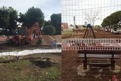 Catino, proseguono i lavori per il playground e il nuovo giardino. Decaro: «Pronti nei primi mesi del 2020»