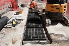 Bari, proseguono i lavori per la nuova fogna bianca in viale Di Vittorio