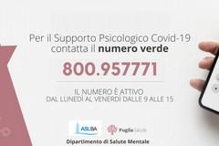 Bari, un servizio di supporto psicologico per le difficoltà legate alla pandemia