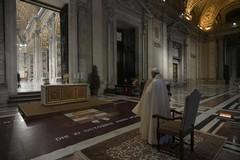 La cerimonia di Papa Francesco
