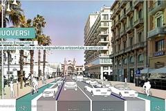 """Bari """"open space"""", da domani i lavori per la pista ciclabile in corso Vittorio Emanuele"""