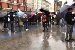 La protesta dei lavoratori dello spettacolo