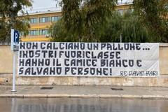 Coronavirus, l'omaggio ultras ai medici del Policlinico di Bari