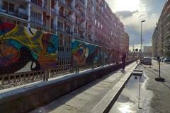 """A Bari """"Lungolinea km 650"""" colora la ferrovia, l'arte urbana per riqualificare luoghi"""