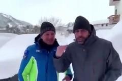 Checco Zalone e il sindaco di Roccaraso