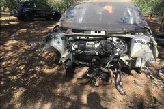 Auto rubata a Santo Spirito ritrovata cannibalizzata nelle campagne di Giovinazzo