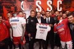 Al San Nicola apre il primo store della SSC Bari, De Laurentiis: «Presto uno in città»