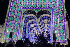 Le luminarie in Fiera