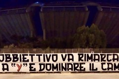 """Verso Foggia-Bari, striscione degli ultras con """"sfottò"""" ai rivali"""