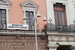 No all'inceneritore Newo, il Comune di Bari espone lo striscione