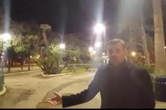 Illuminazione fredda in piazza Umberto