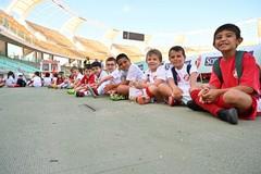 Bari, 237 bambini hanno colorato di biancorosso lo stadio per il Generation Day