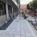 Piazza Massari, entro fine luglio il nuovo marciapiede