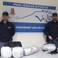 Beccati con 6 kg di marijuana in borsa, due arresti a Bari
