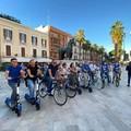 """Bari dice no al vandalismo, in centro la  """"biciclettata """" dei sindacati"""