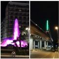 Bari pride 2019, ponte Adriatico e fontana di piazza Moro si tingono di arcobaleno