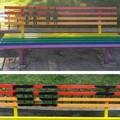 Altamura (Bari) imbrattata di nero la panchina arcobaleno