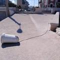 Palese, sradicato un pilone di cemento sulla banchina del porticciolo