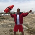 David Hasselhoff in Puglia nei panni di Mitch Buchannon di Baywatch
