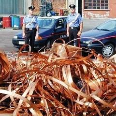 Furti di rame, la polizia sequestra 5 kg di cavi