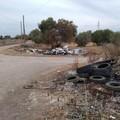 Bari, a Mungivacca discarica abusiva di pneumatici e rifiuti speciali