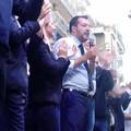 Salvini in via Sparano, pochi accenni a Bari e tanto spazio all'Europa