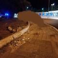 Ubriaco al volante danneggia la rotatoria di Mungivacca a Bari, denunciato