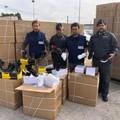 Arriva a Bari dalla Grecia con scarpe contraffatte. Sequestrate 4.788 paia