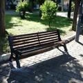 Bari, ripristinata la panchina vandalizzata in piazza Garibaldi