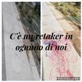 Vandalizzata una panchina sul lungomare di San Girolamo, un volontario ripulisce