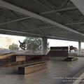 Pista da skate e campo da basket sotto il ponte Adriatico, partiti i lavori