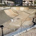 """Parco nella ex caserma Rossani, prende forma la  """"piscina """" per lo skate"""