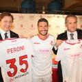 """Una """"bionda"""" per la Bari. Giancaspro: «Noi e Peroni stessi colori, stessa passione»"""