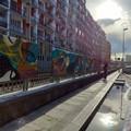 """A Bari  """"Lungolinea km 650 """" colora la ferrovia, l'arte urbana per riqualificare luoghi"""