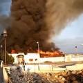Incendio all'ex ristorante L'Ancora, istituito senso unico sul lungomare di Palese