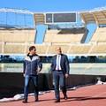 Stadio San Nicola a Bari, si valuta la rimozione dei petali rimasti