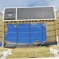 Forte vento su Bari, vola un altro telone dello stadio San Nicola