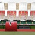 Stadio San Nicola, la tribuna est pronta per Bari-Avellino