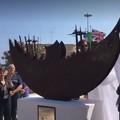 """Al porto di Bari arriva  """"La Nave della Speranza """", scultura dell'artista albanese Ledi Shaban"""
